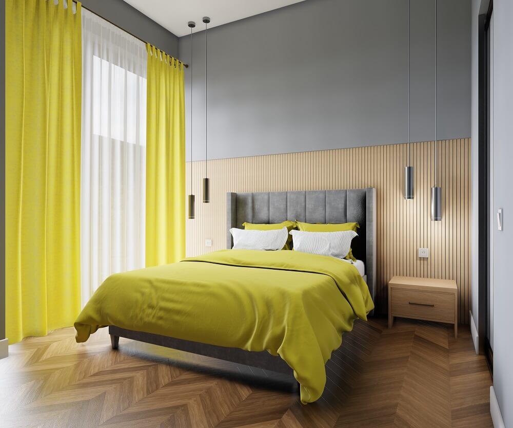 dormitor modern decorat calm