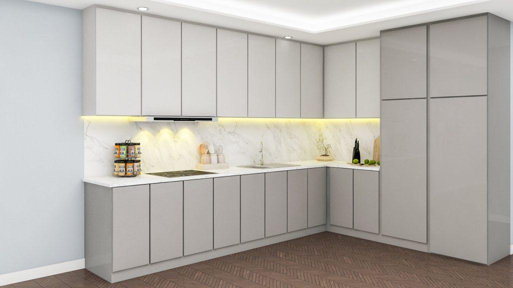 bucatarie moderna apartament cu 2 camere