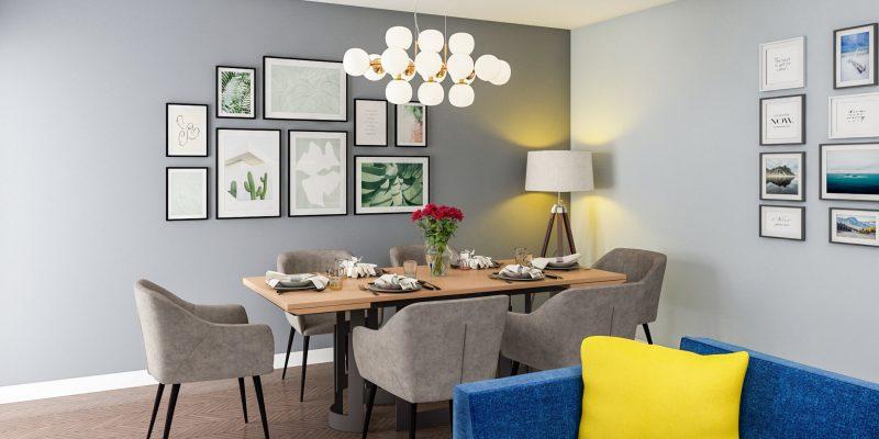 sufragerie spatioasa si eleganta apartament cu 2 camere iasi
