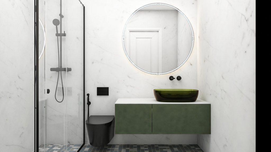 baie moderna apartament 3 camere iasi copou